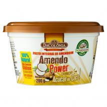 Pasta de Amendoim Crunchy com Açucar de Coco (200g) DaColônia