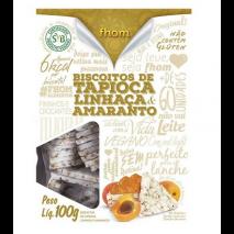 Biscoito de Tapioca Linhaça e Amaranto (100g) Fhom