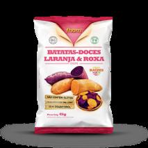 Chips Batata Doce Laranja e Roxa (45g) Fhom
