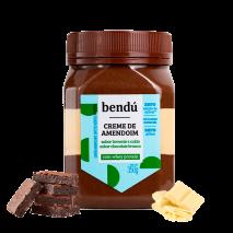 Creme de Amendoim Brownie com Calda de Chocolate Branco (350g) Bendu