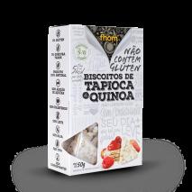 Biscoito de Tapioca Com Quinoa (50g) Fhom - 50% OFF