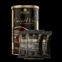 Cacao Whey (900g) Essential Nutrition + Radiance Bites Protein Bar (3x23g) Essential Nutrition Grátis