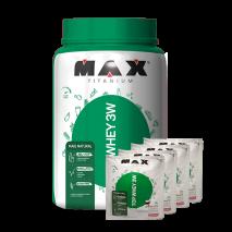 Top Whey 3W Mais Natural (900g) Max Titanium + 160g Grátis