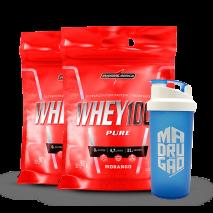 Whey 100% Pure (2x Refil-907g) IntegralMedica + Coqueteleira Grátis