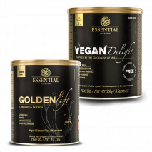 Golden Lift (210g) Essential Nutrition + Vegan Delight (250g) Essential Nutrition