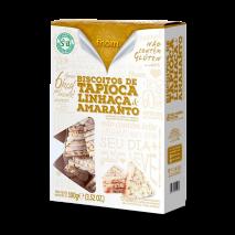 Biscoito de Tapioca com Linhaça e Amaranto (100g) Fhom - 50% OFF