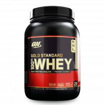 100% Whey Protein (1.9lb/900g) Optimum Nutrition-Rocky Road (Chocolate com Amendôas) - 40% OFF