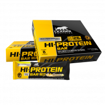 HI-Protein Bar (8unid-90g) Leader Nutrition-Banana White Chocolate - 30% OFF