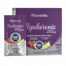 Hyaluronic Premium Verisol 120mg (30 Sachês de 2,8g) Sanavita-Cranberry com Limão - 30% OFF