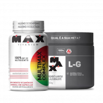 Combo Pro Imunidade L-G Glutamina (300g) + Multimax Complex (90caps) Max Titanium