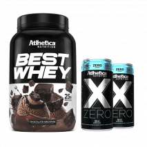 Best Whey (900g) + X-Zero (2x269ml) Atlhetica Nutrition Grátis