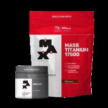 Mass Titanium 17500 Refil (3000g) + Creatina Titanium (100g) Max Titanium
