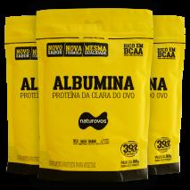 Albumina Pura com Sabor (3x500g) Naturovos