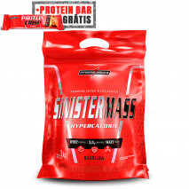 Sinister Mass (3000g) IntegralMedica + Protein Crisp Bar (Unidade-45g) Grátis