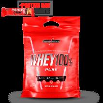 Whey 100% Pure (Refil-907g) IntegralMedica + Protein Crisp Bar (Unidade-45g) Grátis