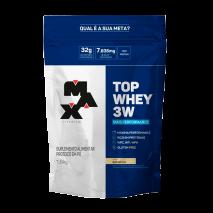 Top Whey 3W Mais Performance Refil (1800g) Max Titanium-Baunilha