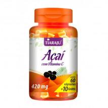 Açaí com Vitamina C 420mg (60caps+10 Grátis) Tiaraju