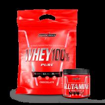 Whey 100% Pure (Refil-907g) + Glutamina (150g) IntegralMedica