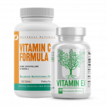 Combo Pro Imunidade Vitamina E+Vitamin C Formula (100tabs) Universal Nutrition