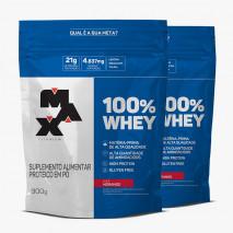 100% Whey Protein (2xRefil-900g) Max Titanium