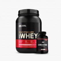 100% Whey Protein (900g) + Creatina (150g) Black Line Optimum Nutrition