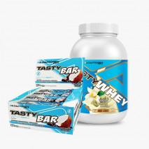 Tasty Whey 3W (2lb) + Tasty Bar (12unid-51g) Adaptogen