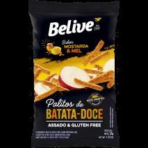 Snack de Batata Doce Sabor Mostarda e Mel 35g - Belive