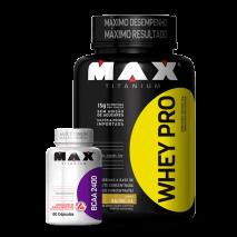 Whey Pro (1000g) + BCAA 2400 (60caps) Max Titanium